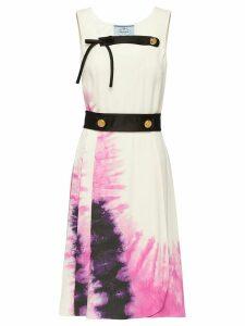 Prada tie-dye print dress - White
