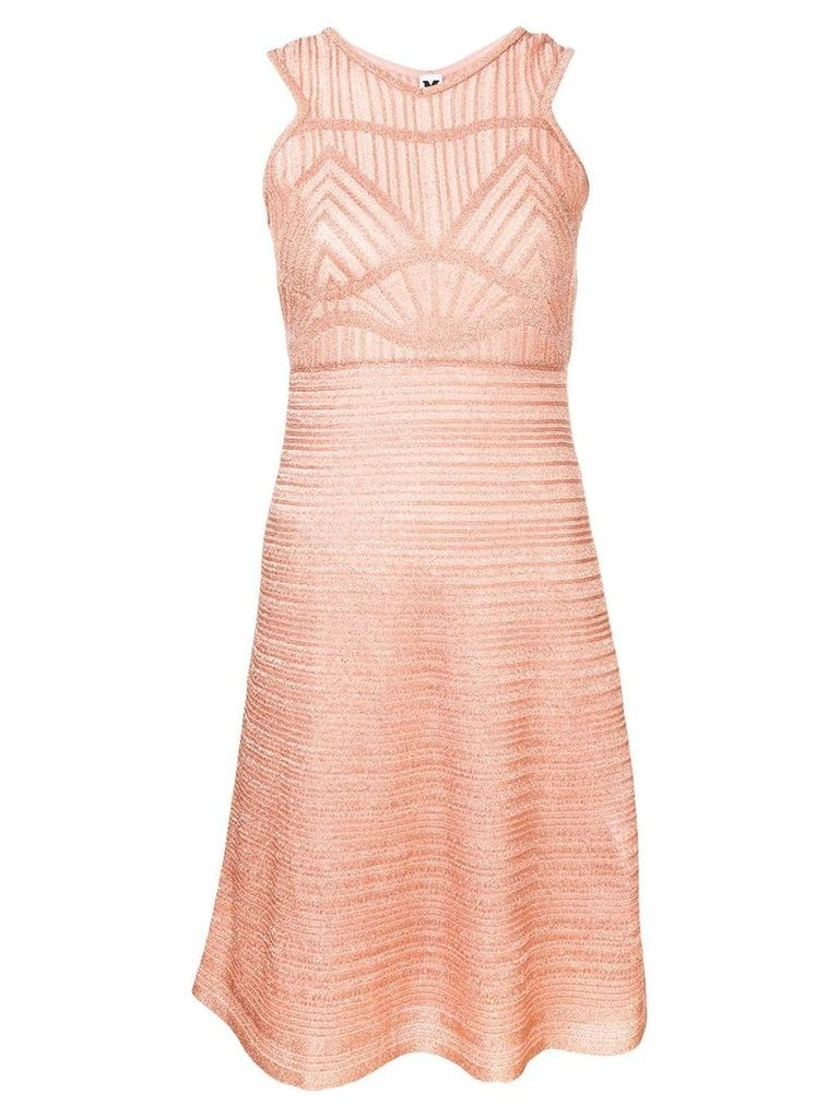 M Missoni patterned knit dress - Pink