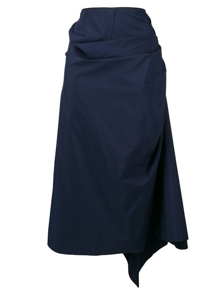 Marni gathered wrap skirt - Blue