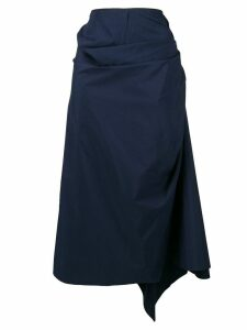 Marni gathered wrap skirt - Blue