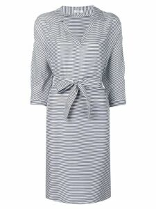 Peserico short striped dress - Blue