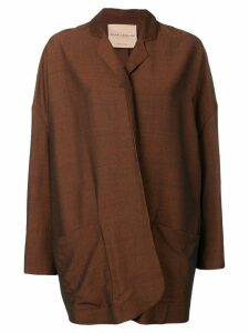 Erika Cavallini oversized draped blazer - Brown