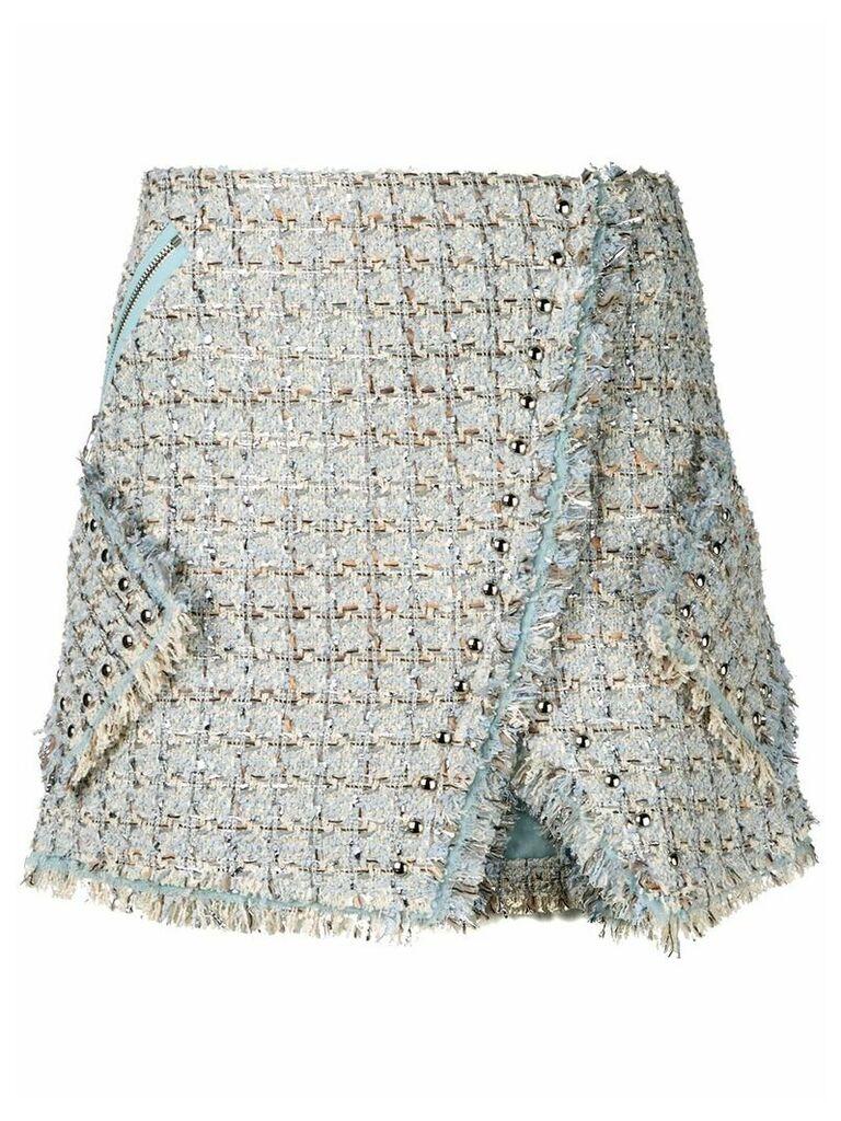 Faith Connexion tweed wrap skirt - Blue
