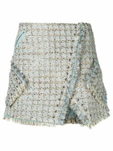 Faith Connexion tweed wrap skirt - Blue