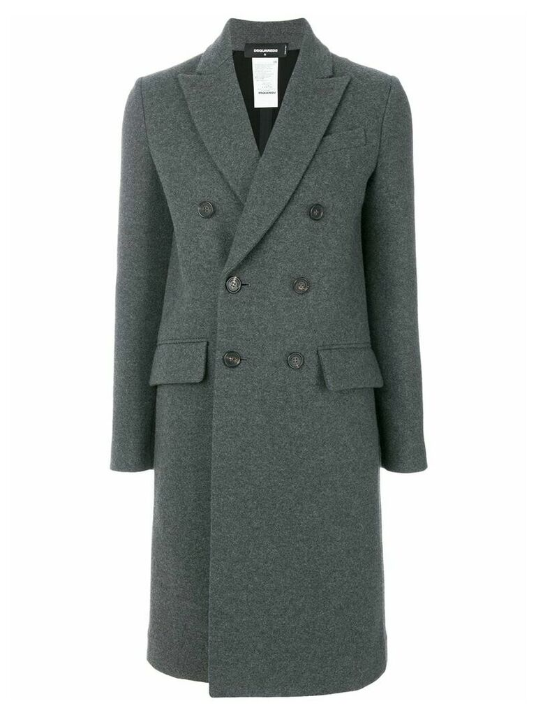 Dsquared2 double breasted coat - Grey