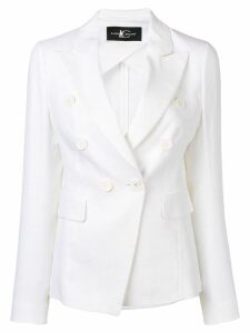 Luisa Cerano fitted double-breasted blazer - White