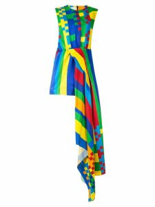 Halpern asymmetric sleeveless dress - Multicolour