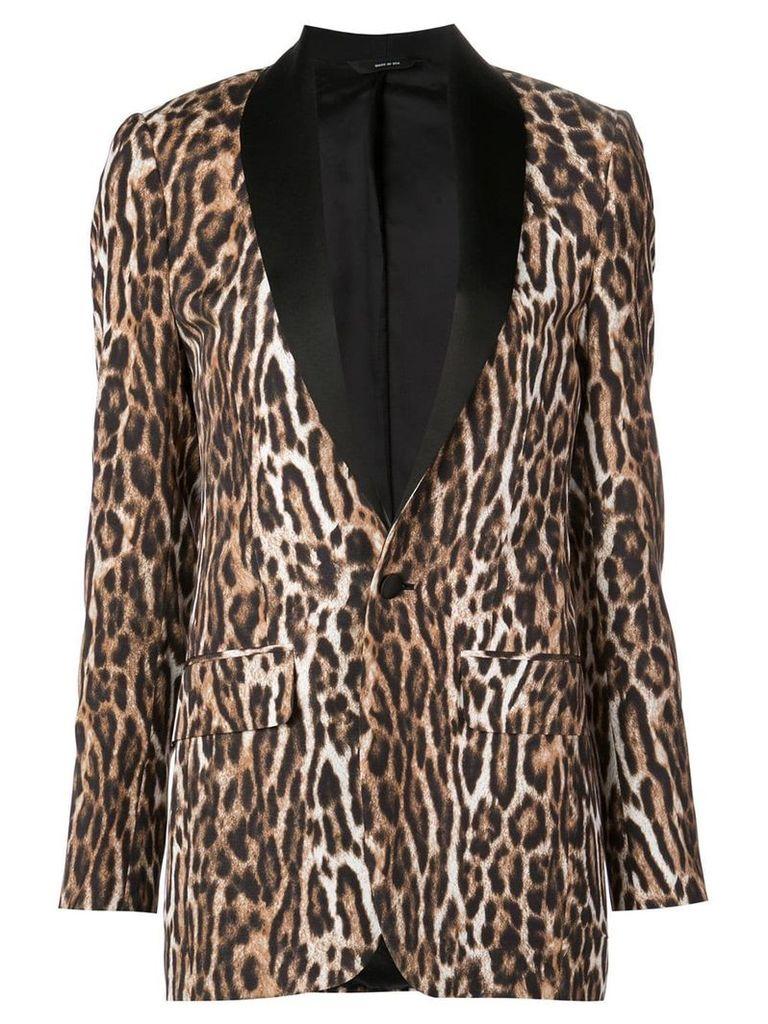 R13 leopard print blazer - Brown