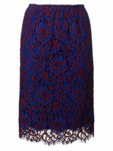 Calvin Klein floral lace midi skirt - Blue