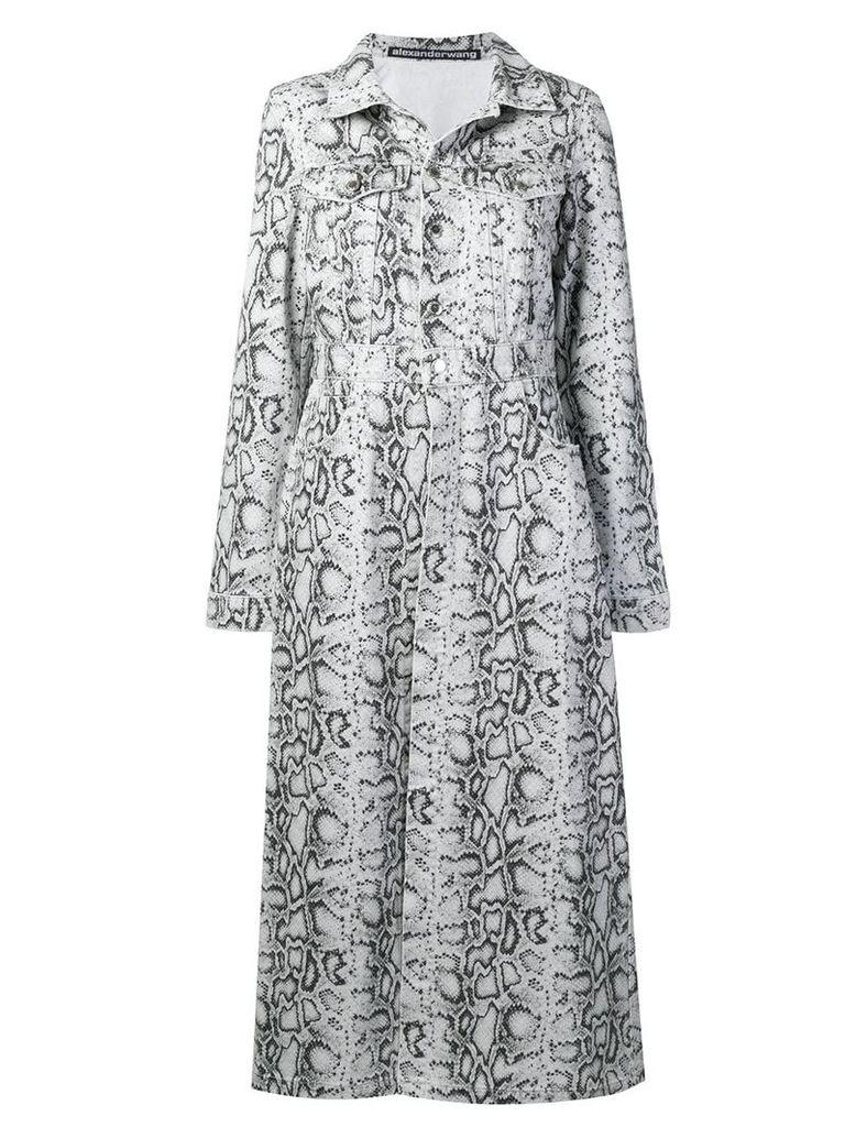 Alexander Wang python-print denim coat - White