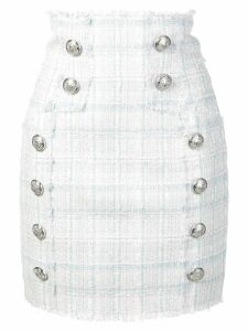 Balmain double breasted boucle skirt - Neutrals