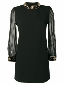 Saint Laurent crystal embellished short dress - Black