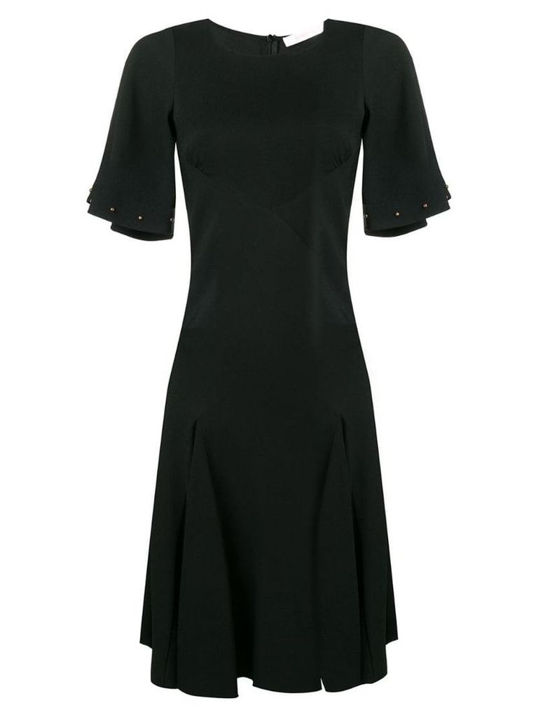 See By Chloé pleated T-shirt dress - Black