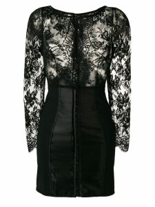 Dolce & Gabbana floral lace fitted dress - Black