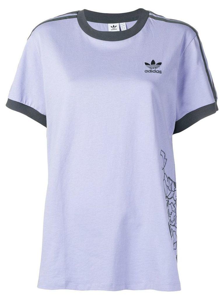 Adidas contrast logo T-shirt - Purple