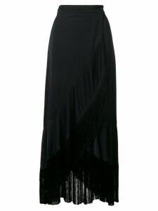 Twin-Set fringed hem skirt - Black