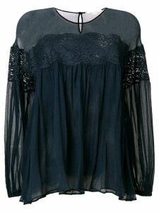 Stella McCartney lace detail blouse - Blue