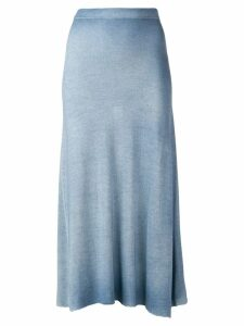 Avant Toi flared knit skirt - Blue