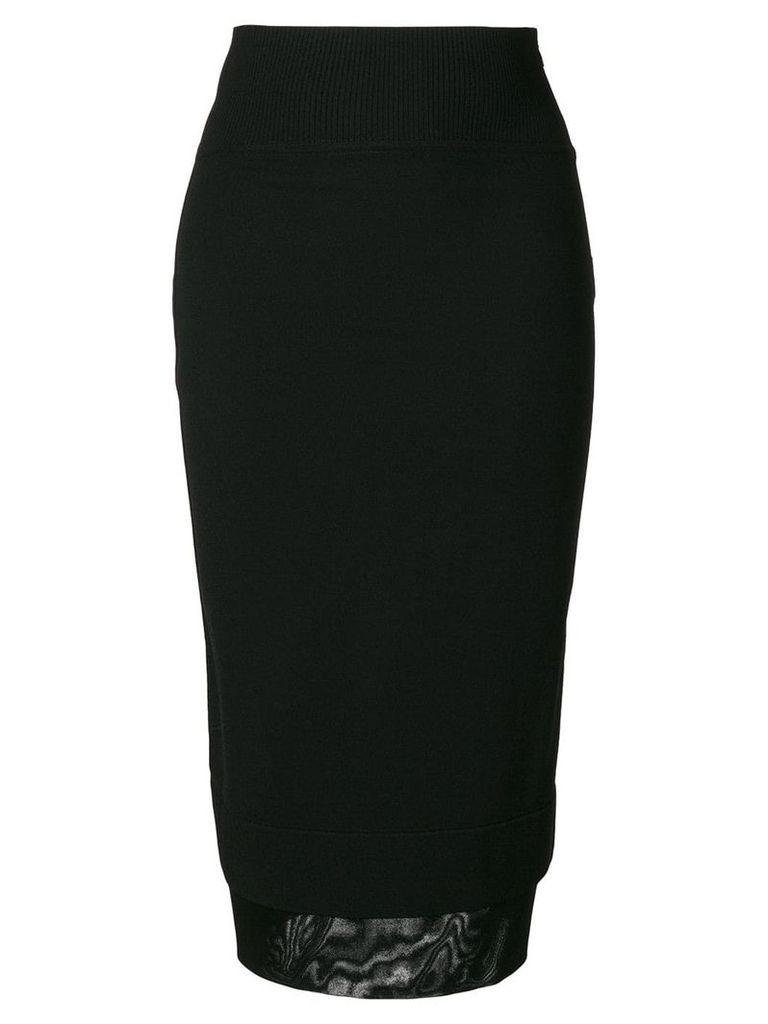Givenchy layered hem midi skirt - Black