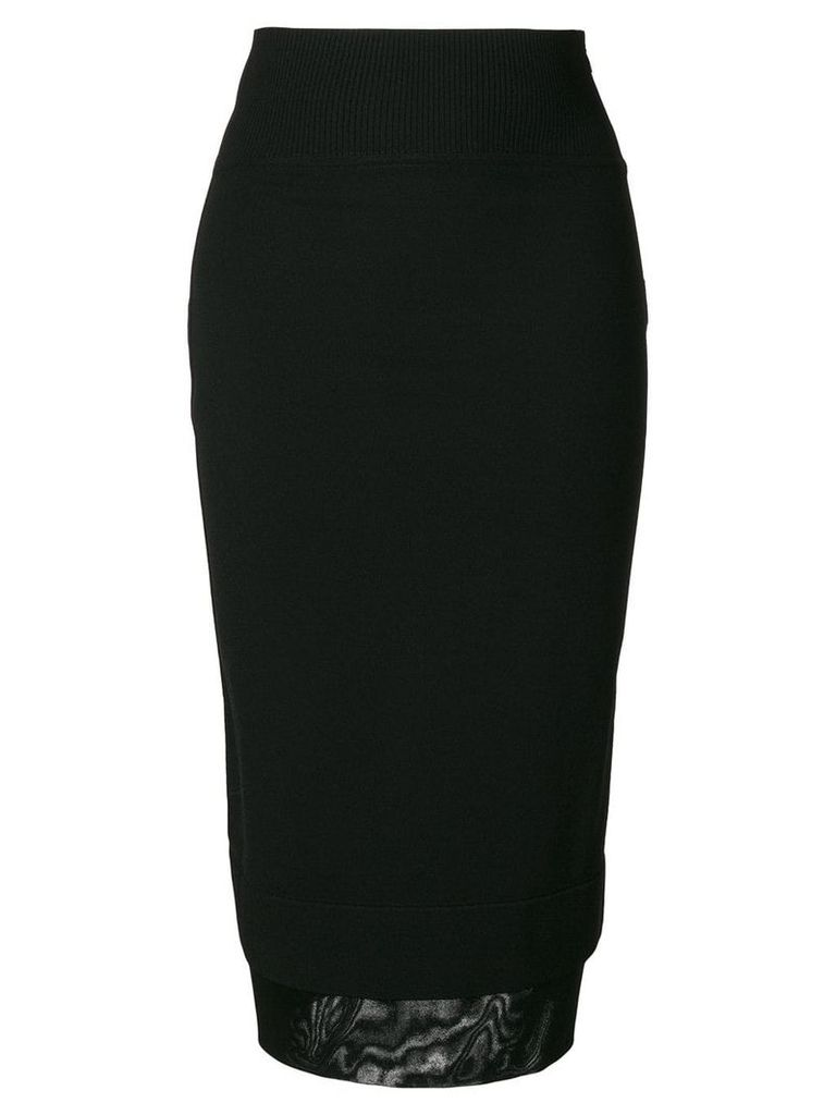 Givenchy layered hem midi skirt - Black