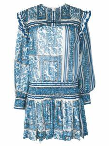 Philosophy Di Lorenzo Serafini printed gathered dress - Blue