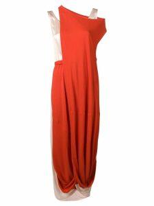 Marni draped midi dress - Red