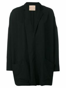 Erika Cavallini oversized draped blazer - Black