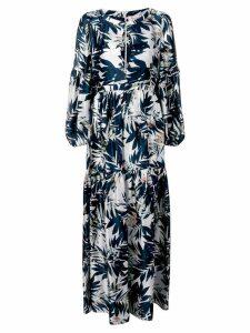 Black Coral floral print maxi dress - Blue