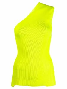 Maison Flaneur ribbed-knit one-shoulder top - Yellow