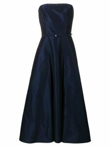 Aspesi strapless flared dress - Blue