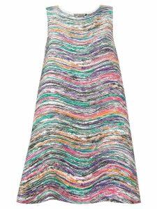 Issey Miyake stroke print dress - Pink