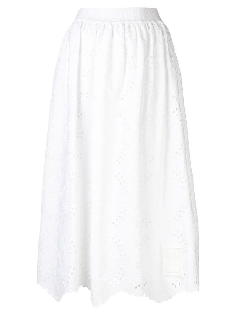 Off-White asymmetric embroidered skirt