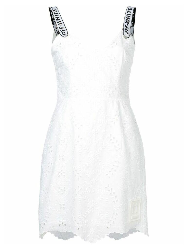 Off-White sangallo embroidery dress