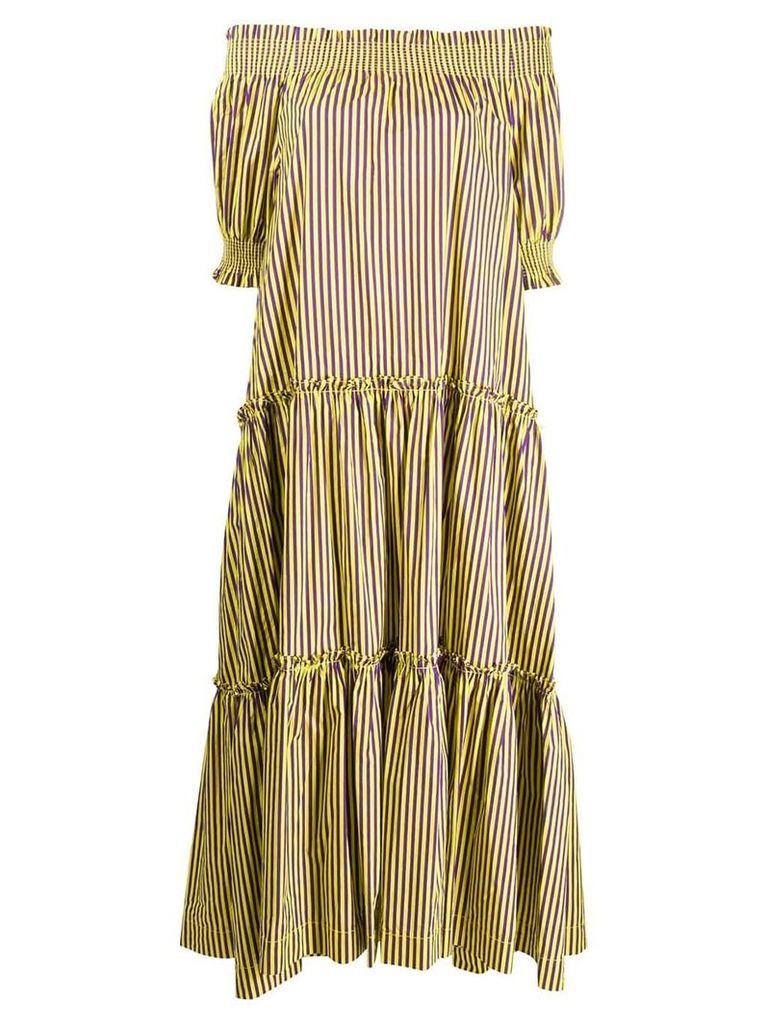 P.A.R.O.S.H. striped long dress - Purple