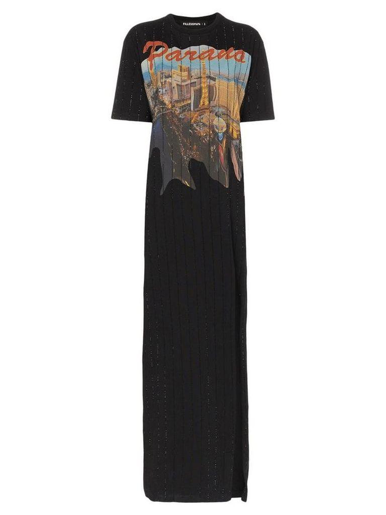 Filles A Papa Riviera crystal embellished cotton T-shirt dress - Black