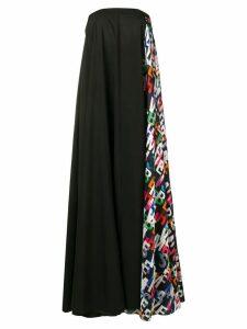 Misbhv semi printed A-line long dress - Black