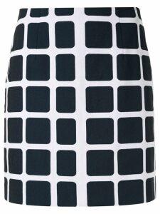 Paule Ka check print skirt - Blue