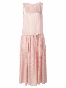 Peserico striped midi dress - Orange