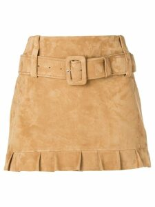 Prada belted mini skirt - Neutrals
