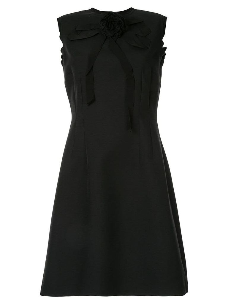 Gucci appliqué rose dress - Black