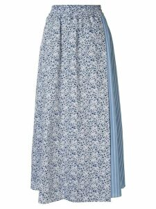 Walk Of Shame patterned easy skirt - Blue