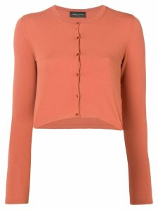Roberto Collina cropped cardigan - Orange