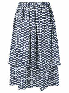Comme Des Garçons geometric print skirt - Blue