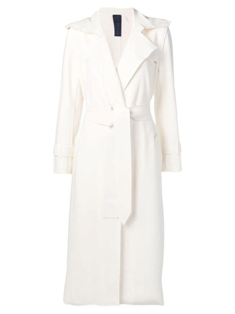 Norma Kamali tie waist coat - White