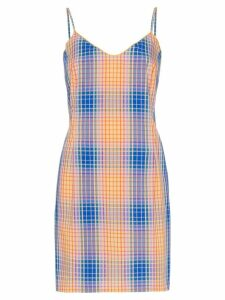 Simon Miller Tawas check mini dress - Orange