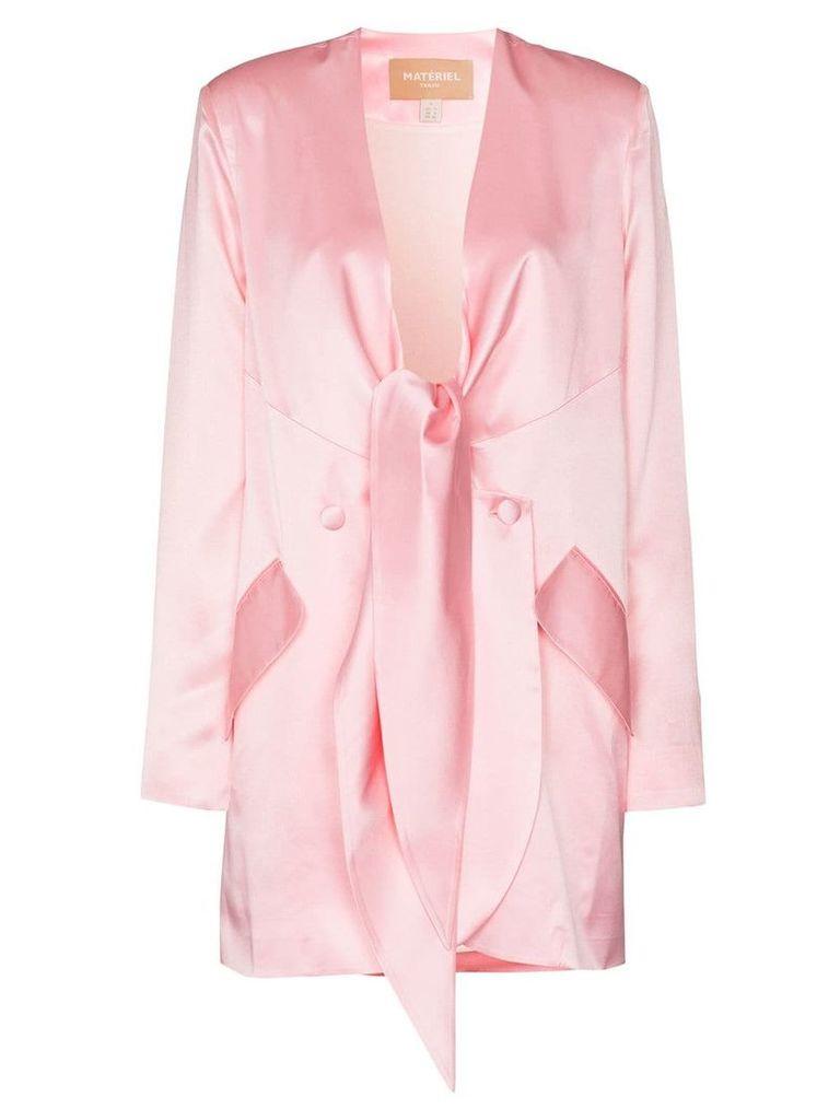 Matériel front tie detail blazer - Pink
