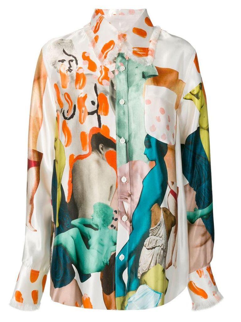 Marni patchwork shirt - Neutrals