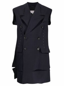 Maison Margiela formal waistcoat with cut-outs - Blue