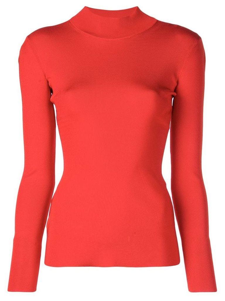 Victoria Beckham open back jumper - Red