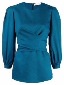 Zimmermann tie-waist blouse - Blue